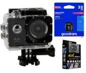 Kamera sportowa Pro 4K UHD WiFi wodoszczelna do 30m + Karta 32GB T273K