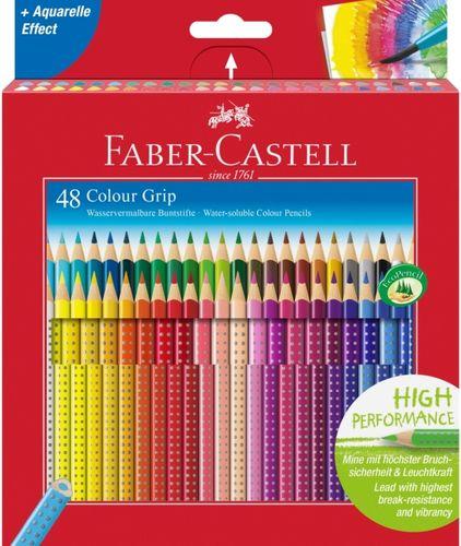 Kredki trójkątne FABER-CASTELL Grip 48 kolorów 2w1 na Arena.pl