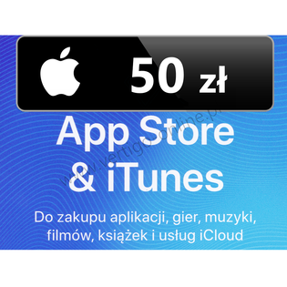 App Store iTunes 50 zł Doładowanie Apple, iPhone