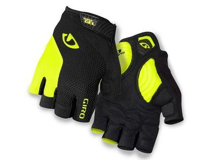 Rękawiczki męskie GIRO STRADE DURE SG krótki palec black highlight yellow roz. XXL (obwód dłoni od 267 mm / dł. dłoni od 211 mm) (NEW)