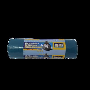 """""""Raz dwa"""" worki LDPE 120l 10 szt. mocne, gruba folia - niebieskie"""