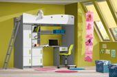 Łóżko Piętrowe dla dzieci, meble młodzieżowe antresola  GIT zdjęcie 2