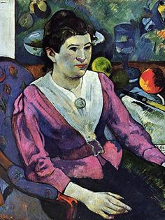Reprodukcja obrazu Woman in Front of a Still Life by Cézanne - Paul Gauguin Rozmiar - 60x45