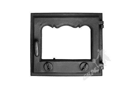 DRZWI D1 PRAWE - 33X38 CM żeliwne do pieca piecowe kaflowe