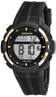Xonix Męski zegarek sportowy, stoper, timer, 2 x czas, podświetlenie, WR 100M, antyalergiczny