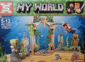 Klocki my world paczka 170 ele wodny świat 4 różne