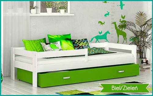 Łóżko dla dzieci HUGO COLOR 190x80 + szuflada + materac na Arena.pl