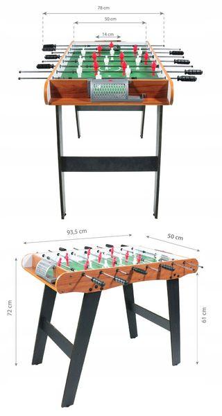 Piłkarzyki duży drewniany stół do gry Ecotoys zdjęcie 4
