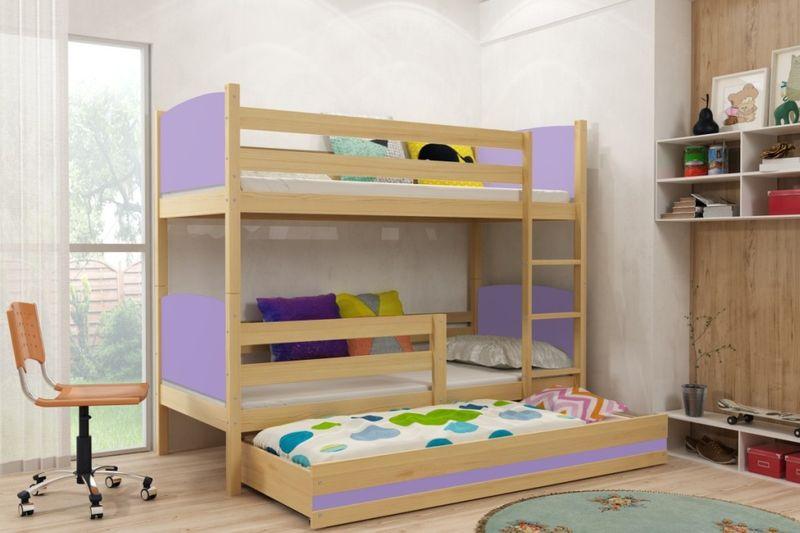 łóżko Piętrowe 3 Osobowe Tami 190x80 Dla Dzieci Dziecięce Meble