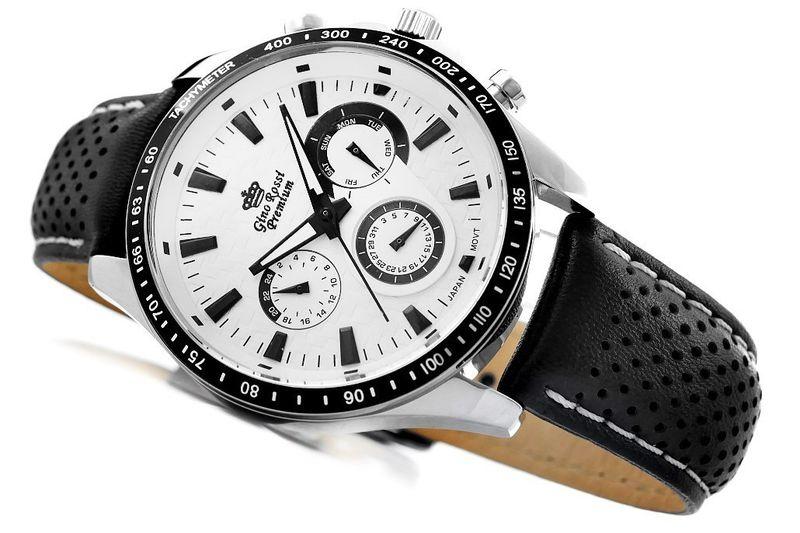 Zegarek Męski Gino Rossi Stalowy Premium S523A-3A1 na Arena.pl