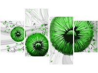 140cm 70 OBRAZ Zielone dmuchawce 2 ścienny druk cyfrowy