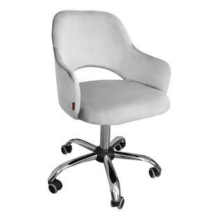 Fotel obrotowy MARCY / jasny szary / noga chrom / MG39