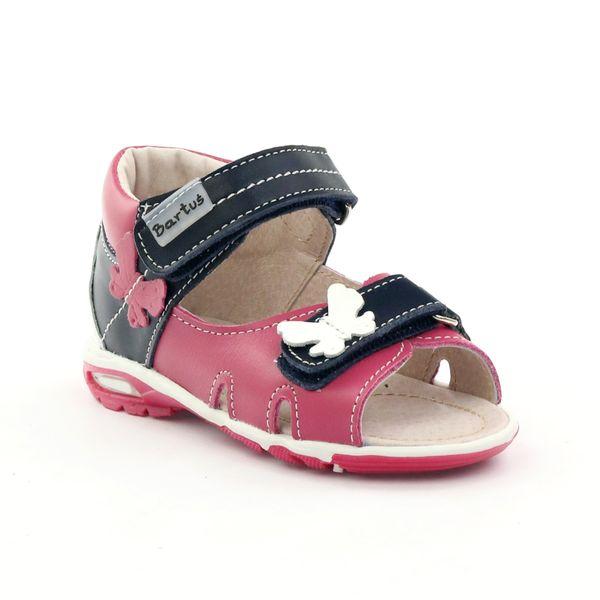 Sandałki dziewczęce motyl Bartuś różowe r.21 zdjęcie 2