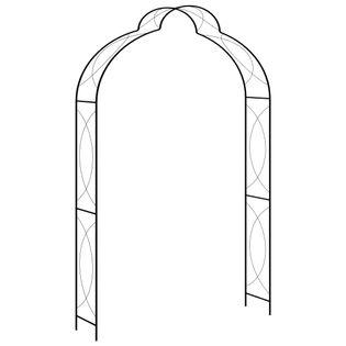 Metalowa pergola ogrodowa 150x34cm k. czarny