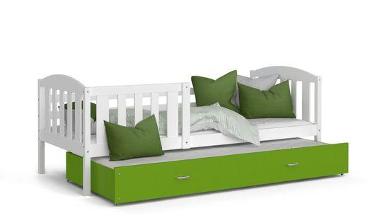 Łóżko wysuwane KUBUŚ P2 190x80 szuflada + materace