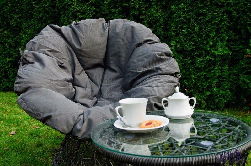 Leżanka obrotowa z technorattanu, fotel stolik rattan zdjęcie 9