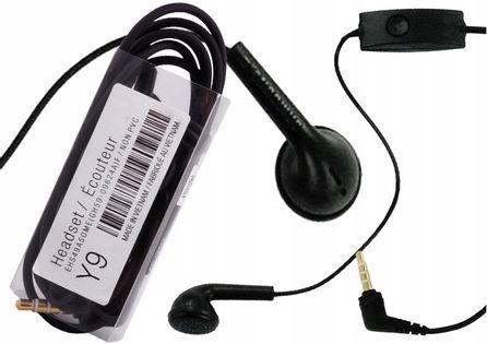 Słuchawki Ehs49 Samsung A3 A5 S4 S5 S6 Note Czarne