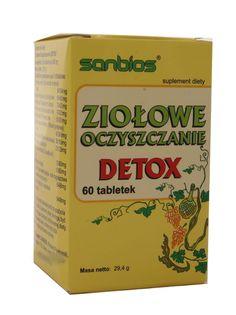 Ziołowe oczyszczanie Detox - Sanbios - 60 tabletek 29,4 g