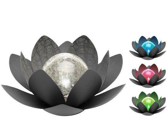 Oświetlenie słoneczne RGB Kwiat lotosu IP44 27cm tarasowe swe zdjęcie 2