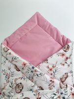 Rożek z tkaniny 100% bawełnianej premium - Jeże połączonej z velvetem