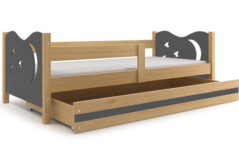 łóżko Dla Dzieci Mikołaj Dziecięce Pojedyncze 160x80 Barierka
