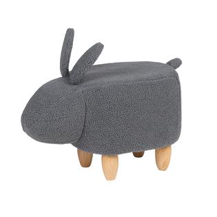 Pufa Tapicerowana Szara Bunny