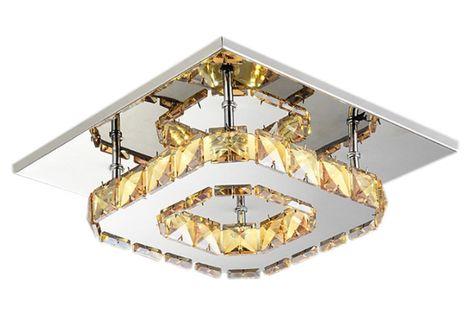 Lampa Meteor panel plafon Kinkiet kryształki LED 12W  20x20cm