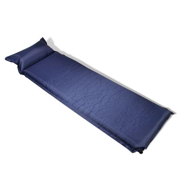 Dmuchany materac, niebieski (10 x 66 x 200 cm). zdjęcie 1