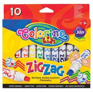 Flamastry ozdobne Zig Zag 10 kolorów Colorino