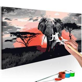 Obraz do samodzielnego malowania - Słoń (Afryka)