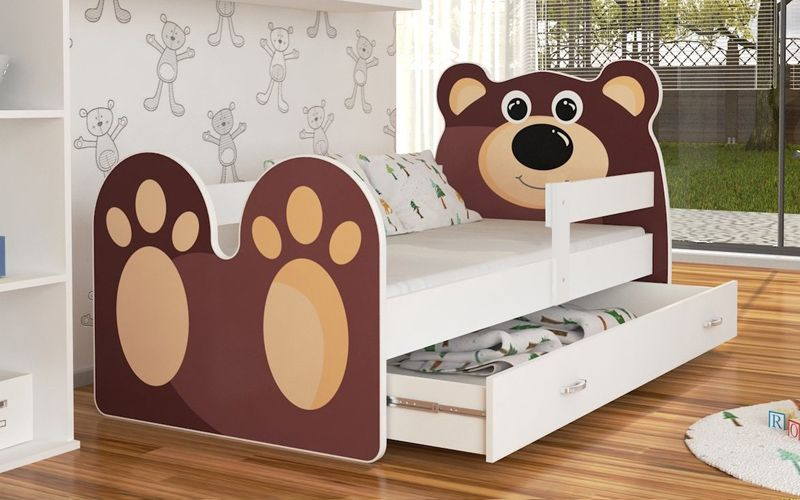 Łóżko MIŚ 180x80 + szuflada + materac zdjęcie 1
