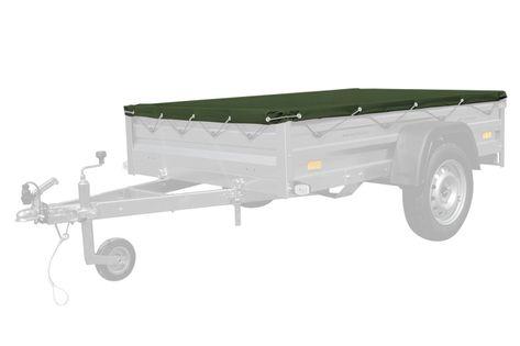Pokrowiec płaski 200x125 do przyczepy Garden 205 - ZIELONY