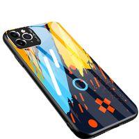 Color Glass Case Etui Pokrowiec Nakładka Ze Szkła Hartowanego Z Osłoną Na Aparat Iphone 11 Pro Pattern 1