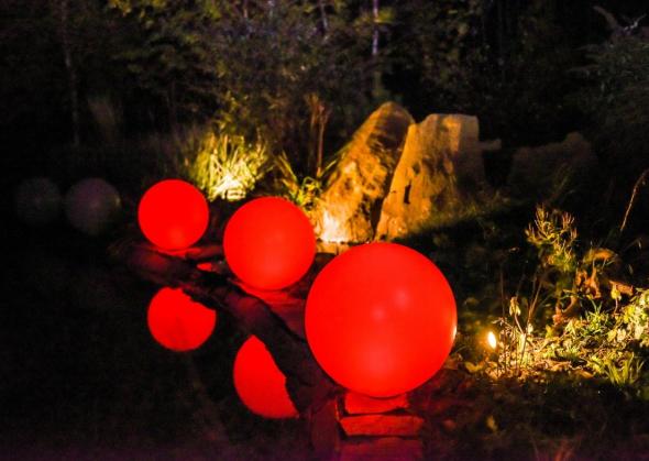 Kula ogrodowa Era 40cm solarna kula dekoracyjna z żywicy poliestrowej zdjęcie 4