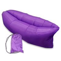 DUŻA Lazy Bag SOFA materac LEŻAK na POWIETRZE fioletowy #E1