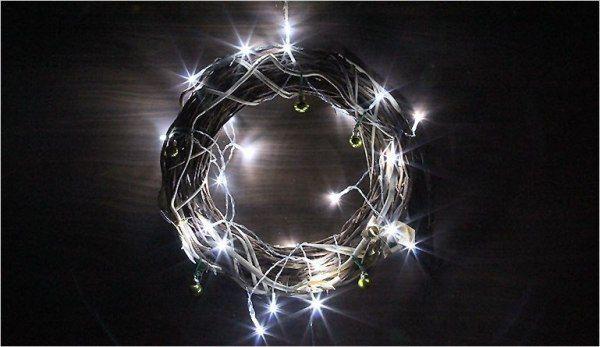 Lampki świąteczne 30 LED na baterie 3m zimny biały Joylight zdjęcie 1