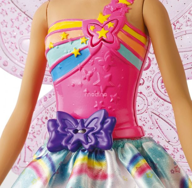 Lalka Barbie Wróżka Latające Skrzydełka Dreamtopia Mattel FRB08 zdjęcie 3