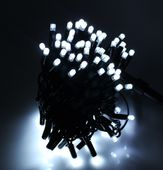 Zewnętrzny łańcuch, sznur na grubym kablu 100LED Zimny biały