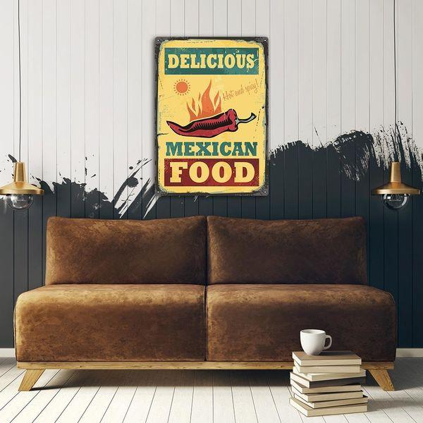 Wydruk na metalu, Retro – meksykańskie jedzenie 40x60 zdjęcie 3