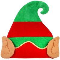 czapka ELFA elf BOŻE NARODZENIA z uszami MIKOŁAJ