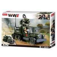 Klocki Sluban wojsko WWII ciężarówka 2w1 (243 el.)