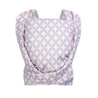 Chusta Zaffiro Be Close tkana splotem skośno-krzyżowym - mosaic pink