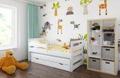 Łóżko PODWÓJNE FILIPPO + 2 materace 180x80 i 160x80 + szuflada zdjęcie 2