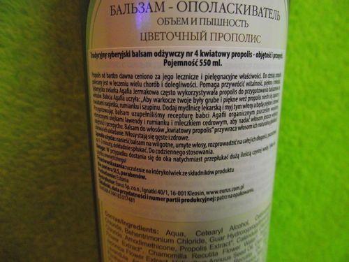 Agafia - Syberyjski balsam do włosów nr 4 OBJĘTOŚĆ I PUSZYSTOŚĆ na Arena.pl