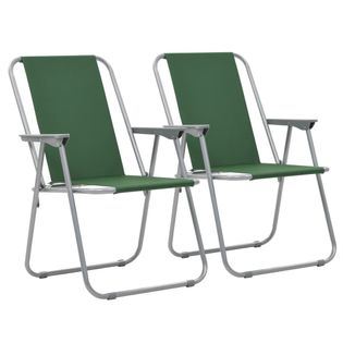 Lumarko Składane krzesła turystyczne, 2 szt., 52 x 59 x 80 cm, zielone