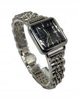 Modny Damski Zegarek Bransoleta Kwadratowy Srebrny