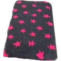Posłanie VET BED szare w różowe gwiazdki  75x50
