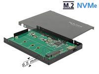 OBUDOWA SSD ZEWNĘTRZNA DELOCK M.2 NVME USB TYPE-C 3.1 GEN 2 CZARNY SLIM