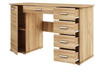 biurko ABS B2 dąb złoty z szufladami praktyczne szkolne dla dziecka