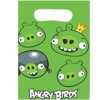 torebki ANGRY BIRDS zielone na PREZENT 6 szt